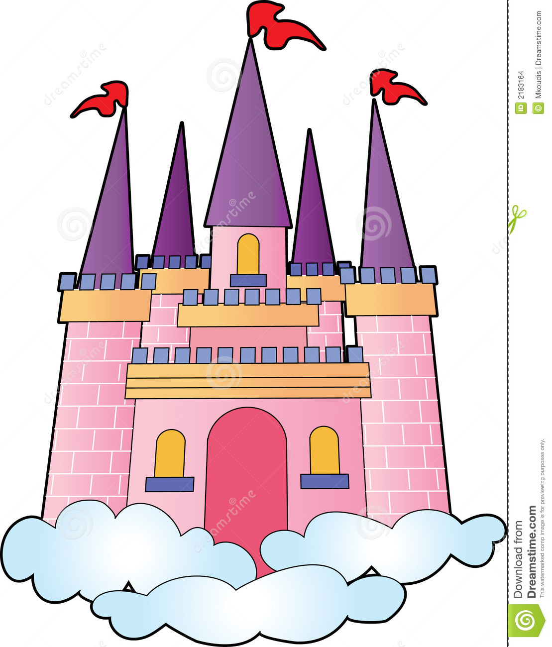 Bouncy free download best. Palace clipart castle on cloud