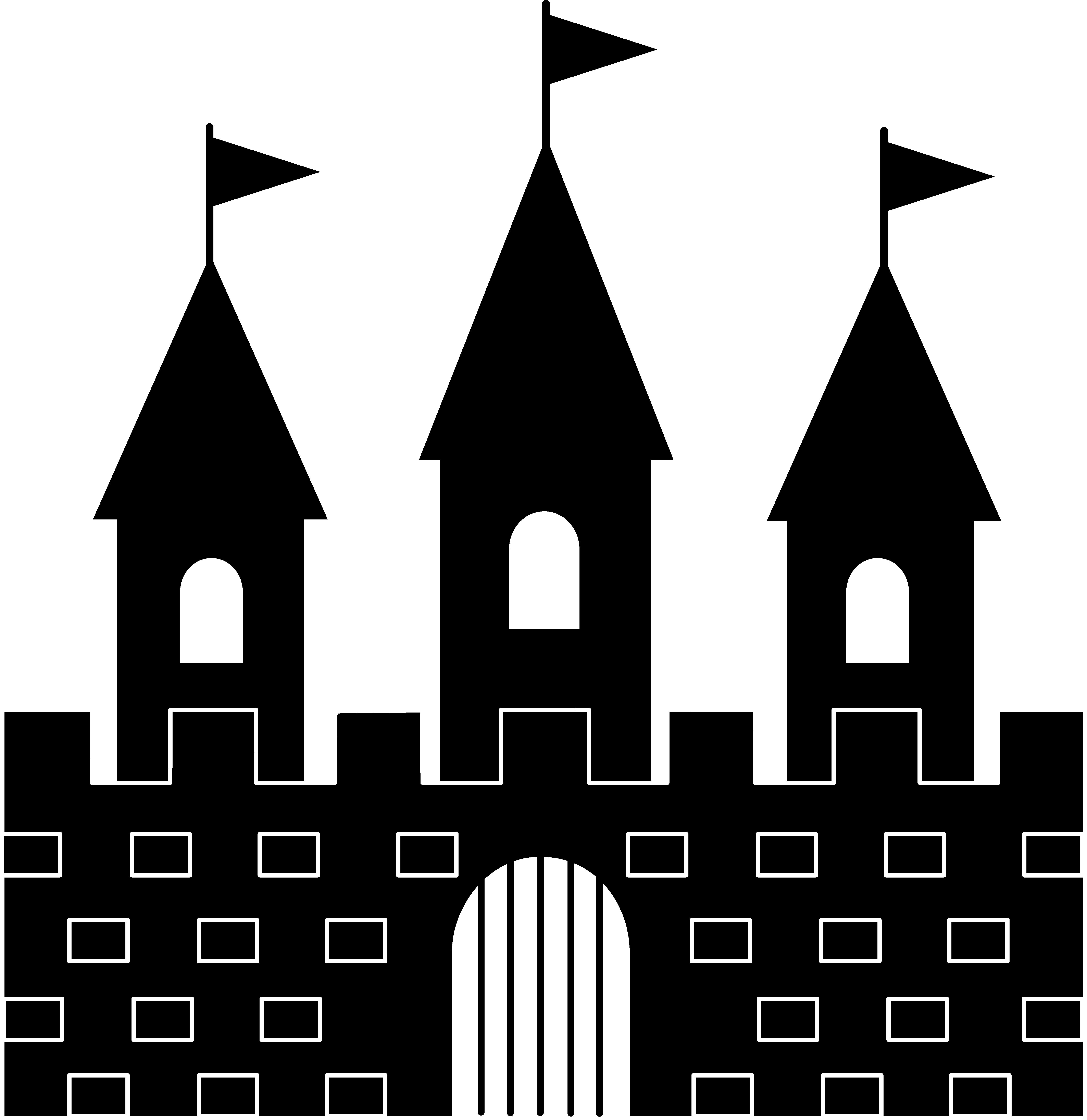 Fresh black and white. Castle clipart logo