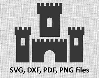 Etsy svg dxf files. Castle clipart logo