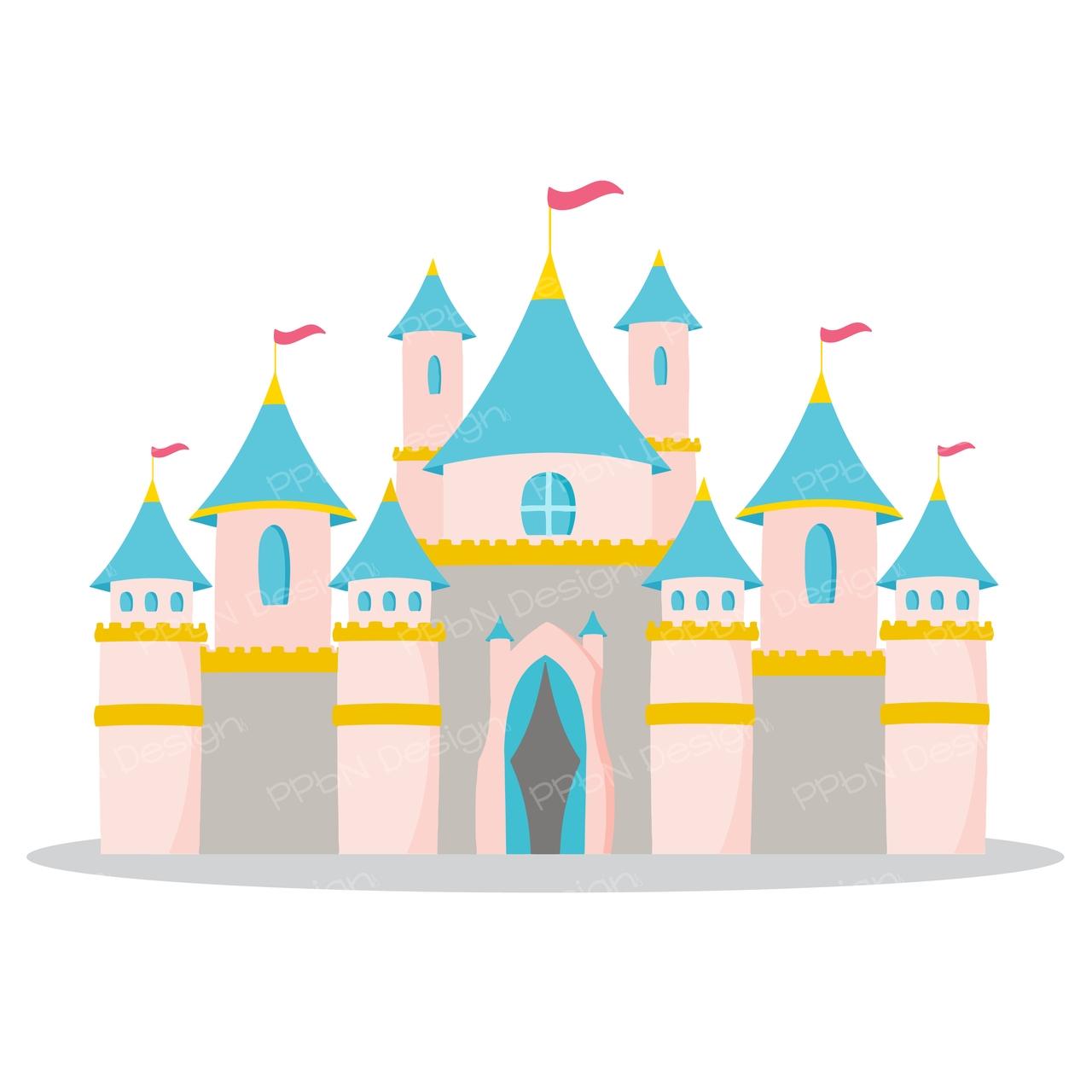 Unique disney design digital. Castle clipart logo
