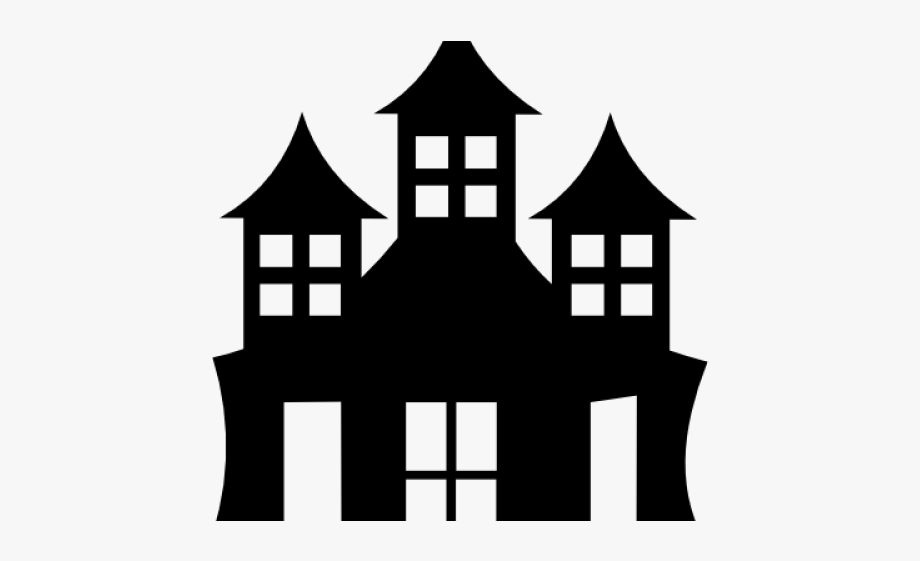 Castle clipart mansion. House black and white