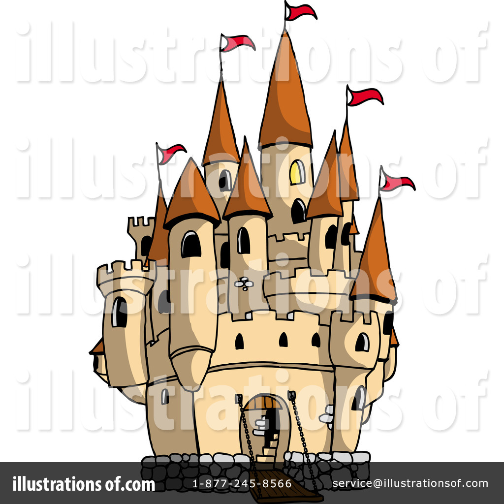 Illustration by prawny royaltyfree. Castle clipart mansion