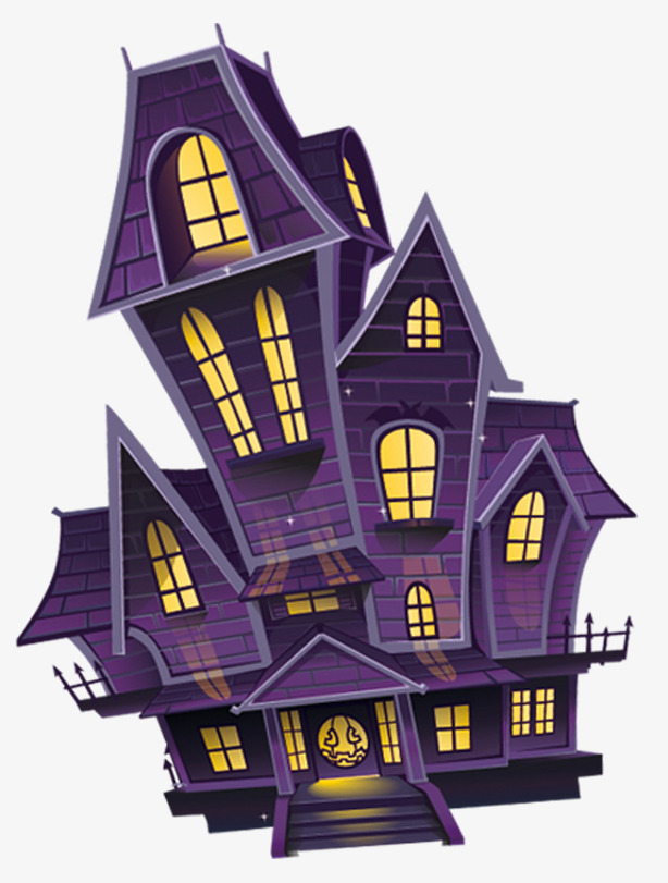 Haunted house ghost halloween. Castle clipart mansion