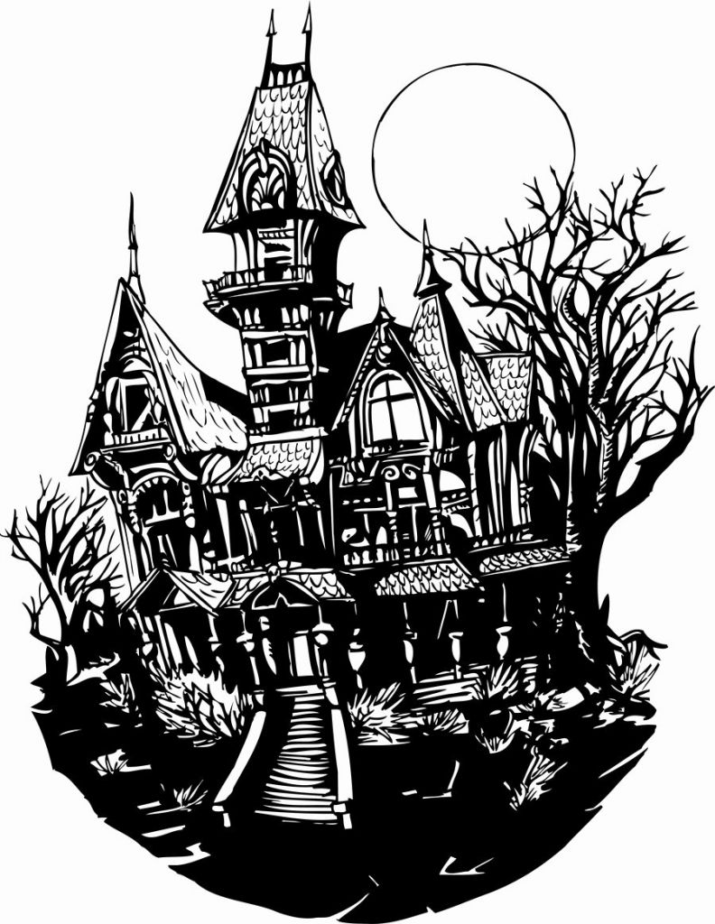 Castle clipart mansion. Expert gallery of haunted