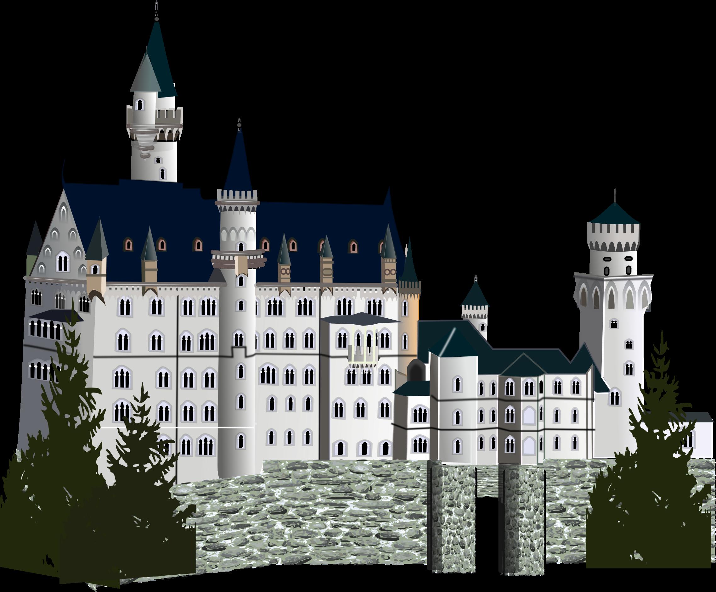 Detailed version big image. Clipart castle medieval