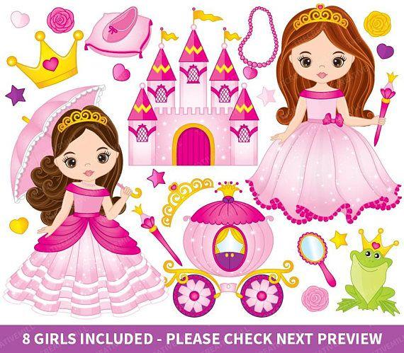 Princess vector fairy tale. Fairytale clipart little girl