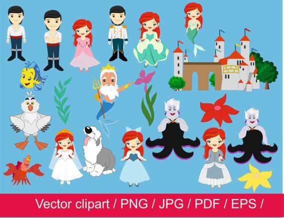 off little princess. Clipart castle mermaid