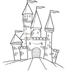 Clipart castle easy. Tattoo inspiring drawing drawings