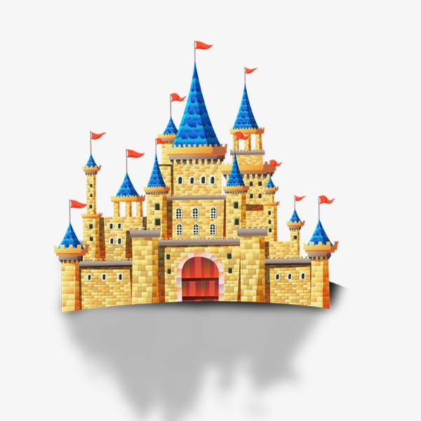 Palace clipart yellow castle. Png image and for