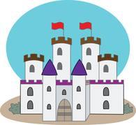 Free castles clip art. Castle clipart part