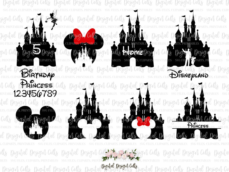 Castle clipart part. Disney svg and mikki