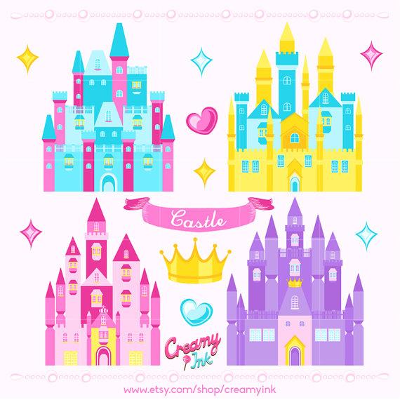 Digital vector clip art. Castle clipart princess