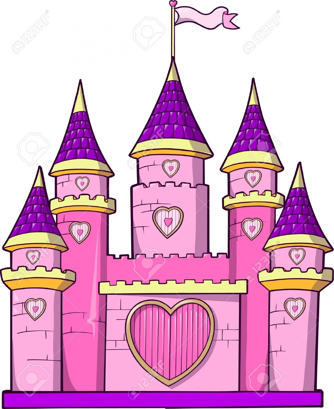 Awesome design digital collection. Castle clipart princess