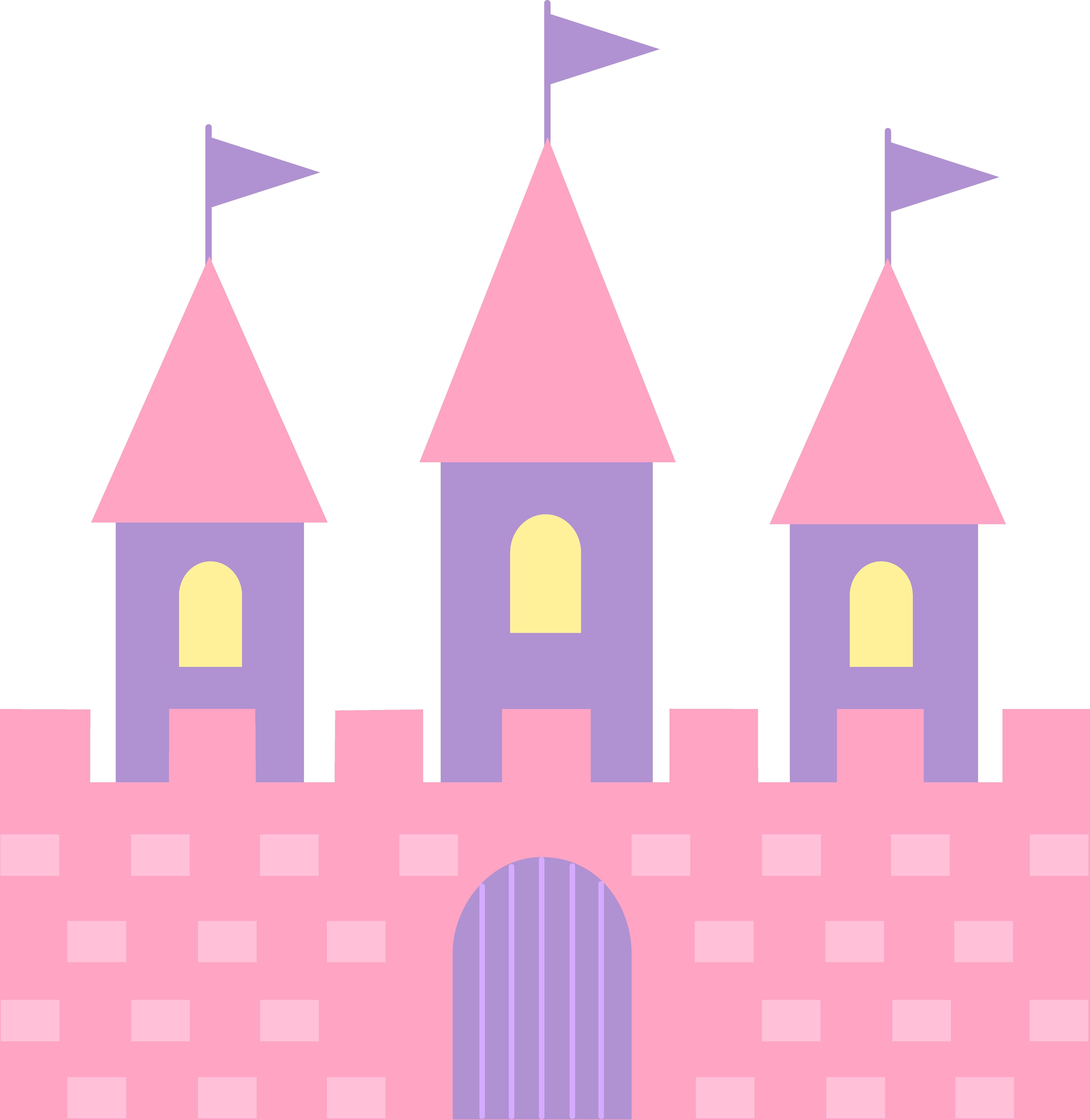 Princess castle . Palace clipart illustration
