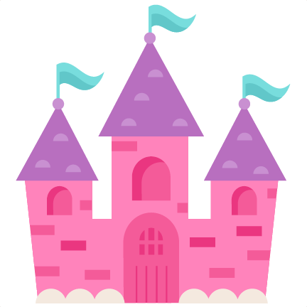 Silhouette of castle at. Palace clipart cute