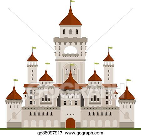 Vector royal family with. Palace clipart castle wall