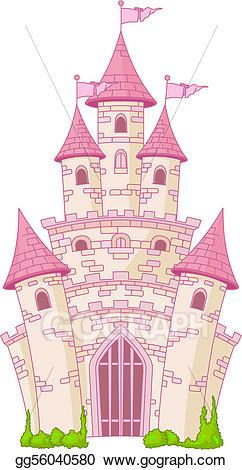 Vector stock magic illustration. Castle clipart royal castle