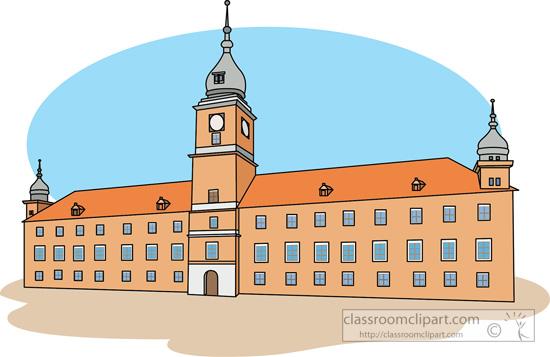 Europe warsaw poland classroom. Castle clipart royal castle