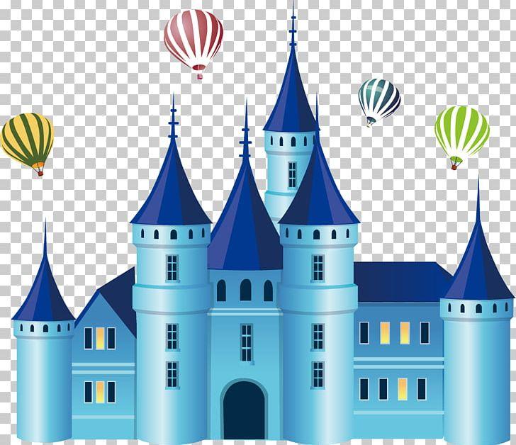 Clipart castle blue. Drawing png air art