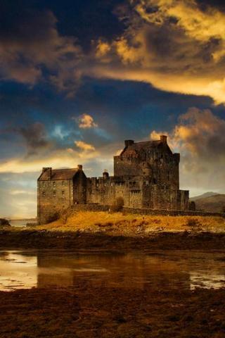 Castle clipart scottish castle. Facebook iphone wallpaper pictures