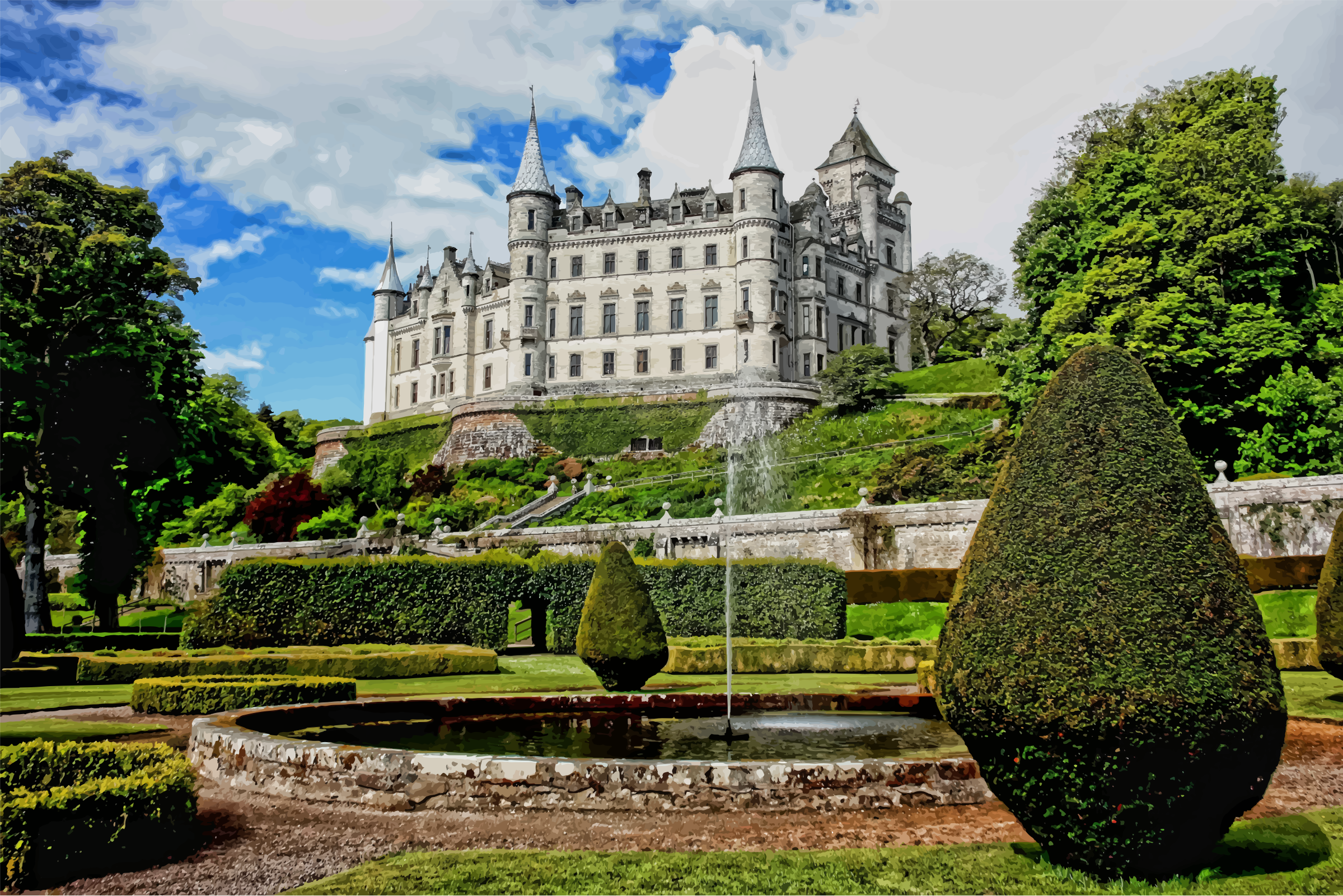 Castle clipart scottish castle. Dunrobin scotland big image