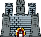Medieval clip art for. Clipart castle scottish castle