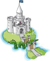 Clipart castle scottish castle. Stock vectors me