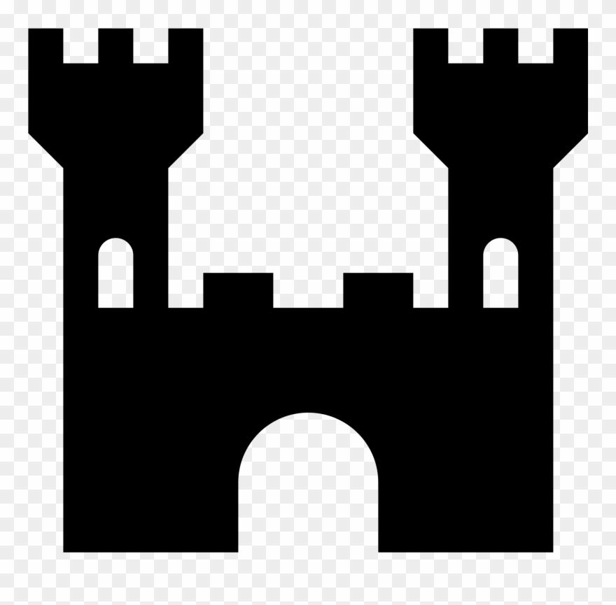 Simple icon png transparent. Clipart castle basic