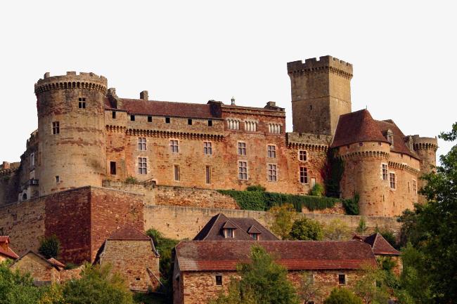 Castle clipart stone castle. Reddish brown european style