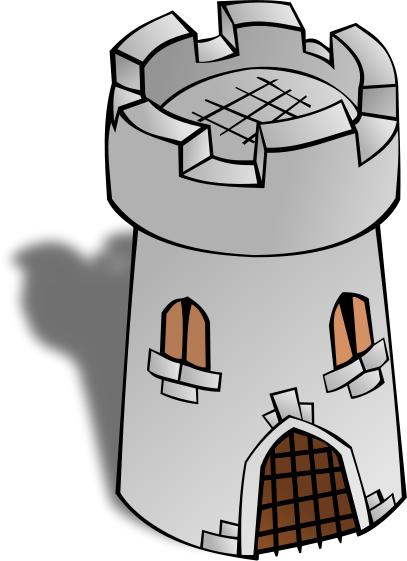 Round tower buildings png. Castle clipart stone castle