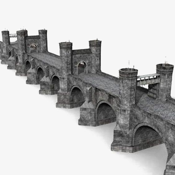 Castle clipart stone castle. Vintage bridge european style