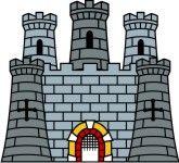 Cartoon free clip art. Castle clipart stone castle