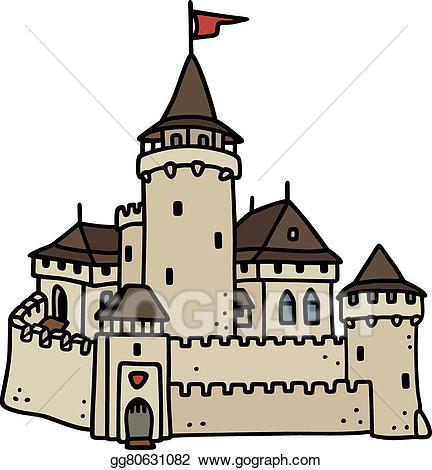 Castle clipart stone castle. Eps illustration old vector