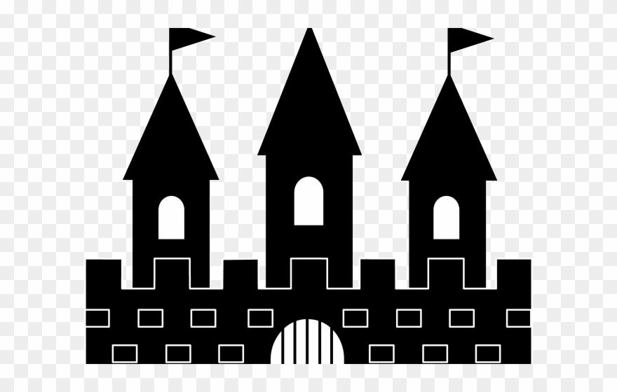 Clipart castle stone castle. Fort silhouette clip art