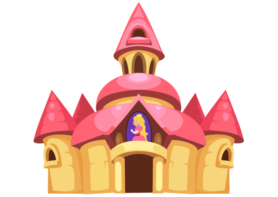 Castle vector png. Peach by karnia on
