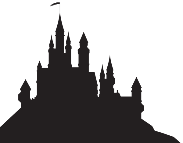 cinderella black and. Castle vector png
