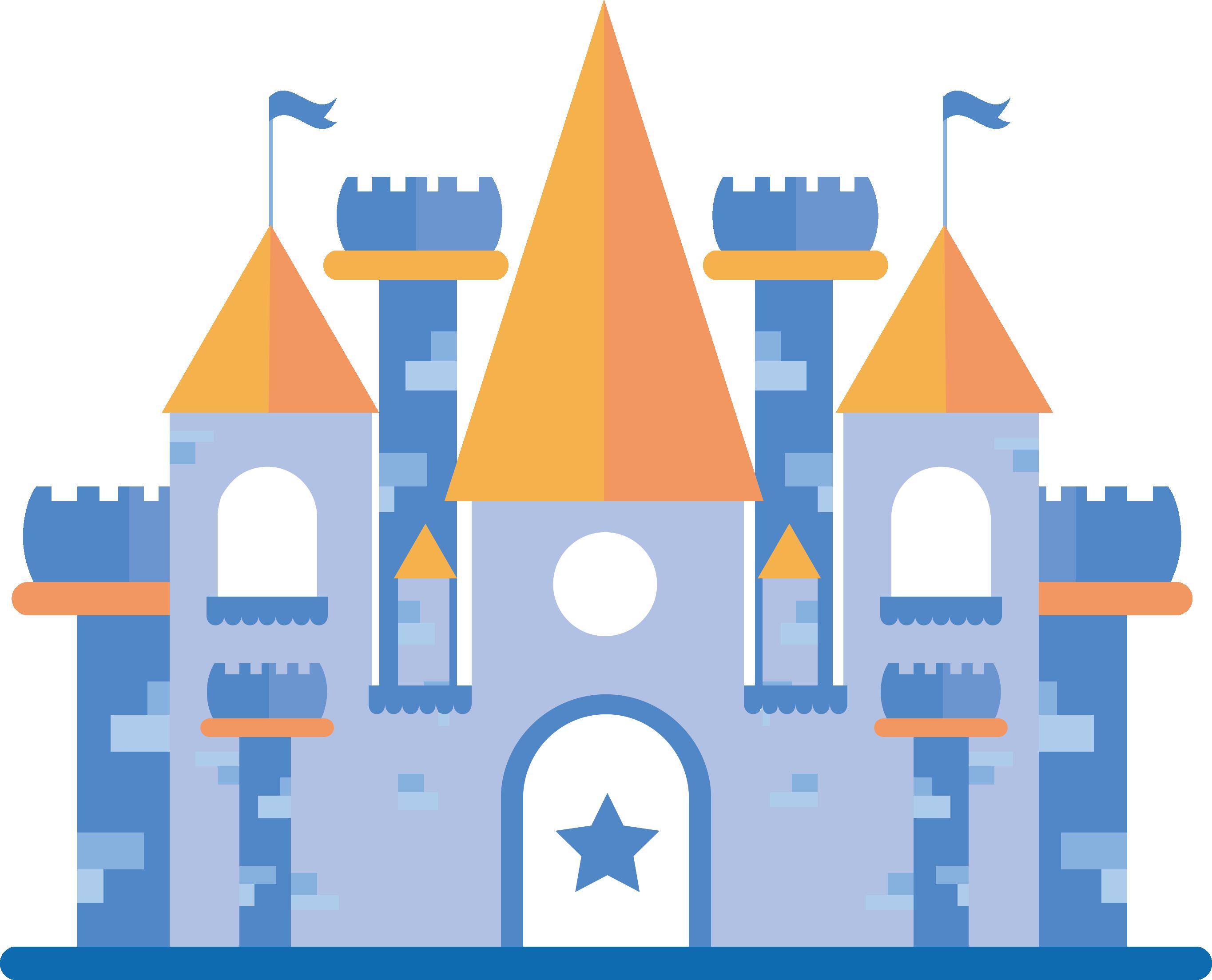 Euclidean adobe illustrator blue. Castle vector png