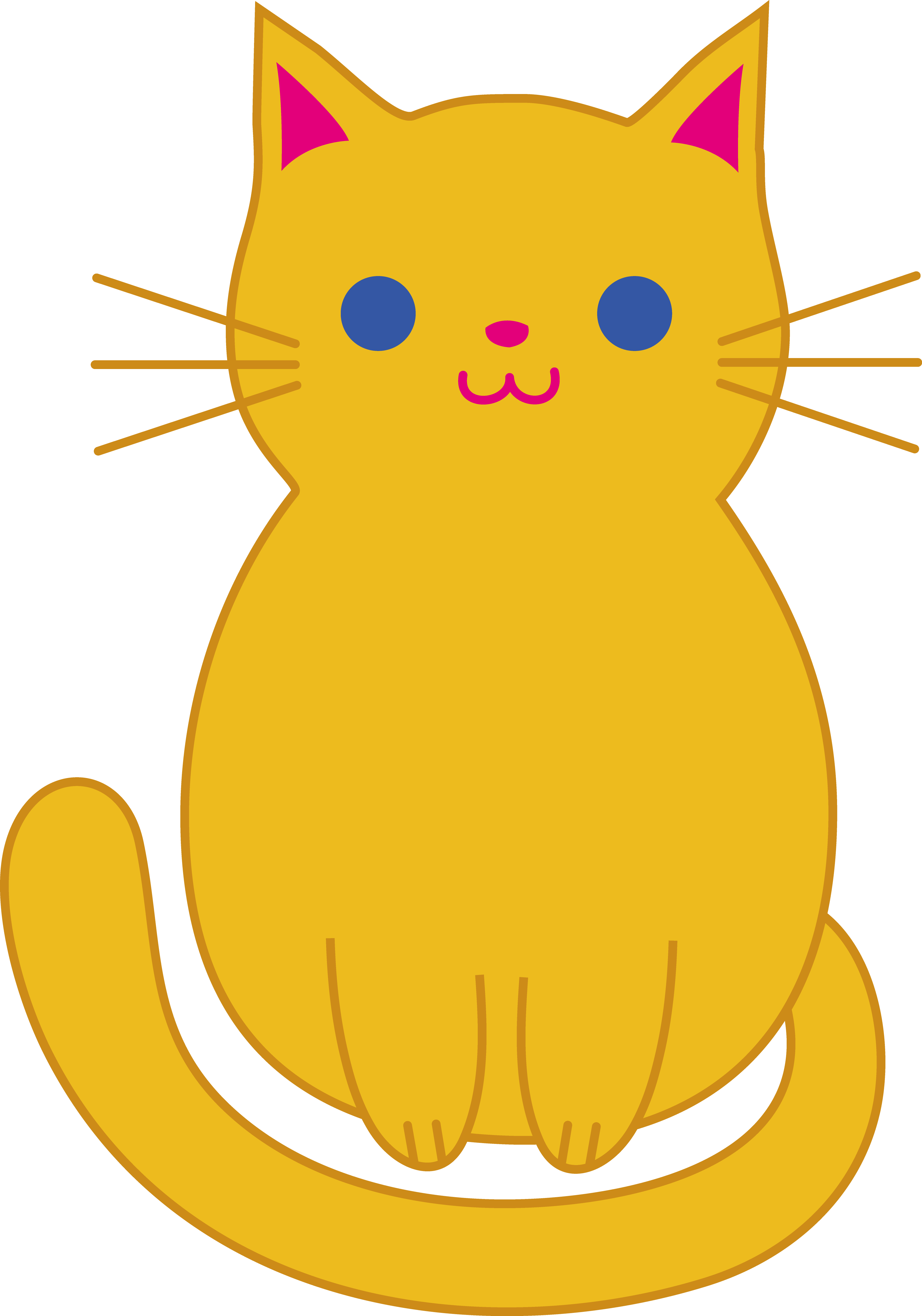 Clipart shapes comic. Fat cat clip art