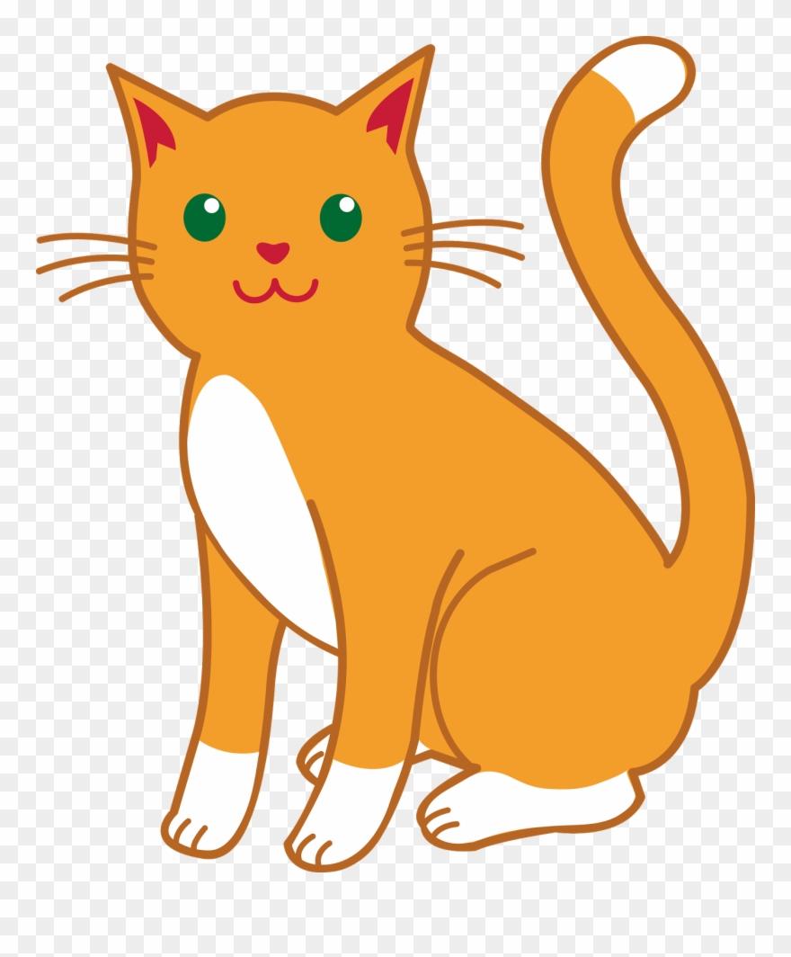 Cat clipart. Cats cartoon images orange