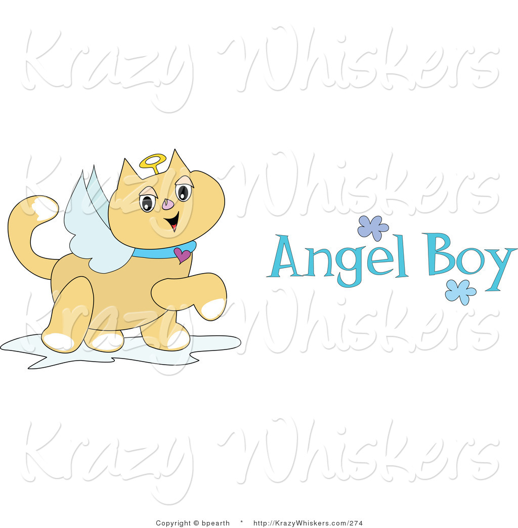 Critter of a winged. Cats clipart angel