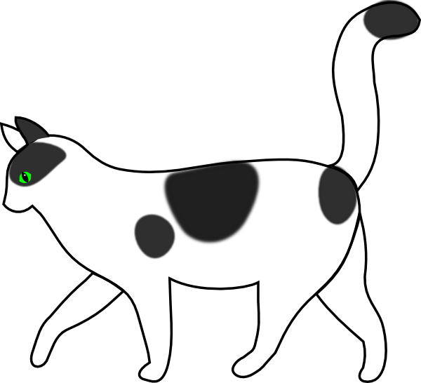 Walking . Clipart cat animation
