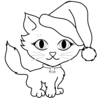 Cat panda free images. Cats clipart black and white