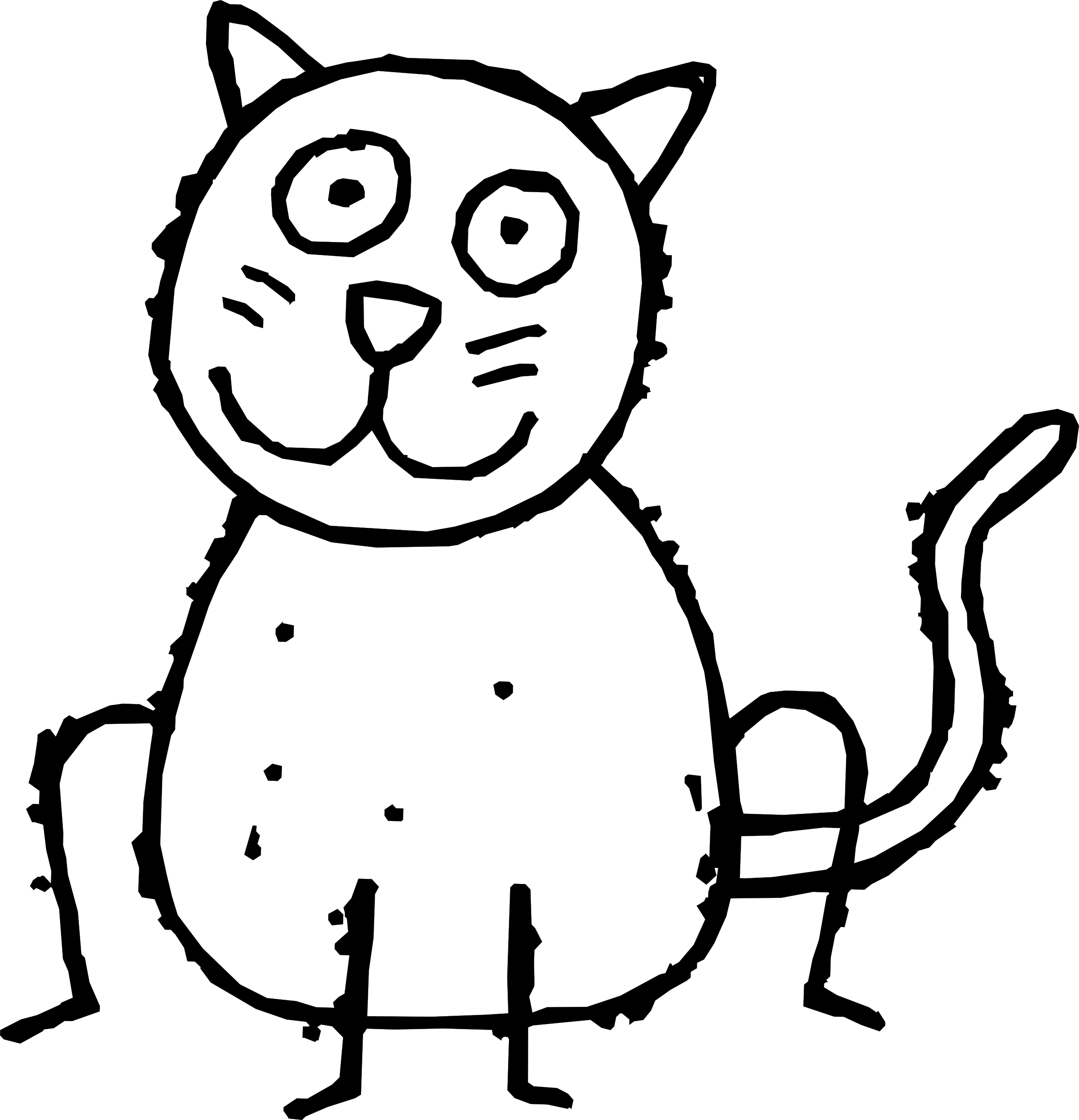 Clipart cat black and white. Clip art panda free