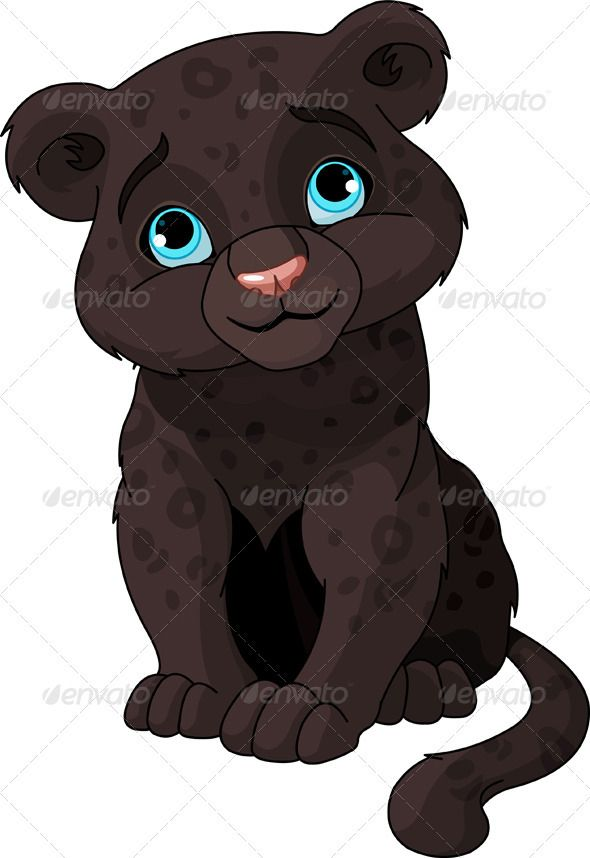 Black cub clip art. Panther clipart baby panther