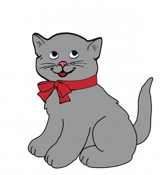 Clipart cat bow. Kitten free stock photo