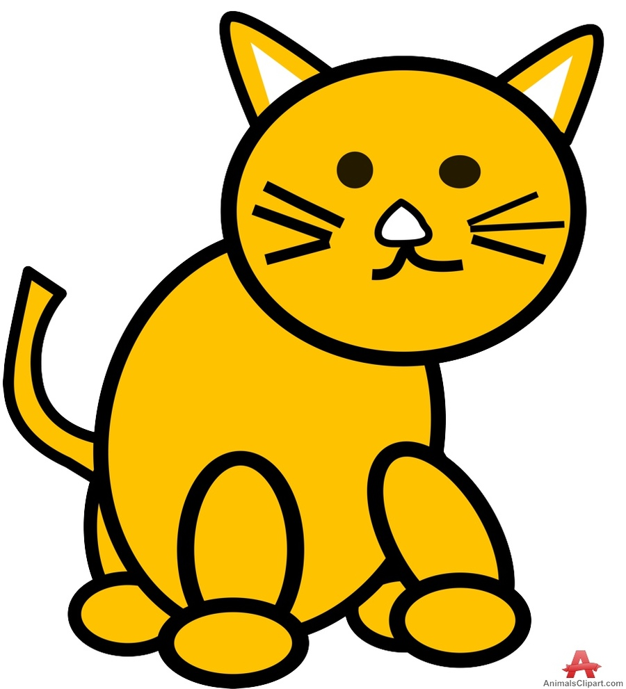 Download drawing in clip. Cat clipart colour