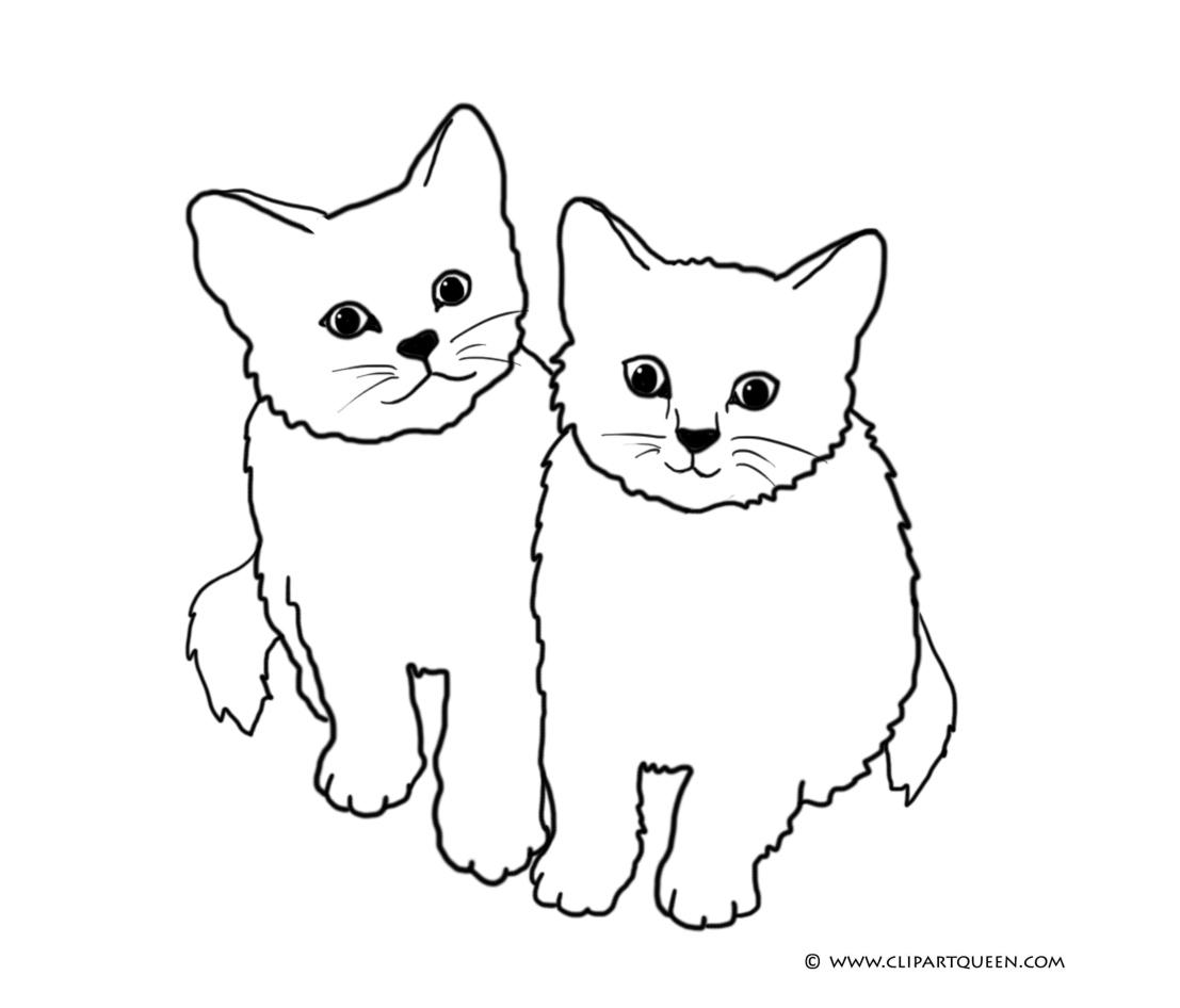 Coloring pages coloirng page. Cat clipart colour