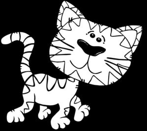 Color clip art at. Cat clipart colour