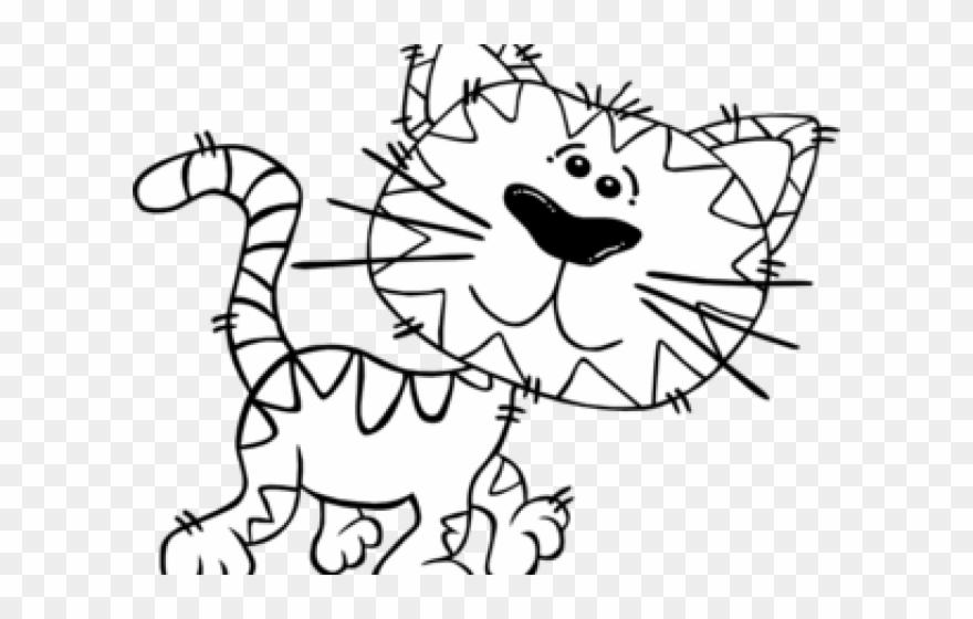 Cat clipart colour. Decorative tiger print pillow