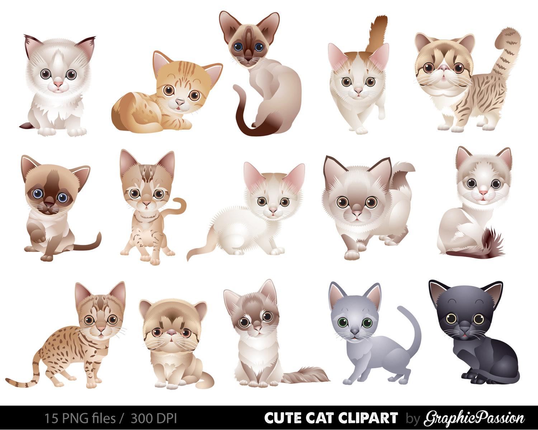 Cat clipart cute. Clip art kitten animals